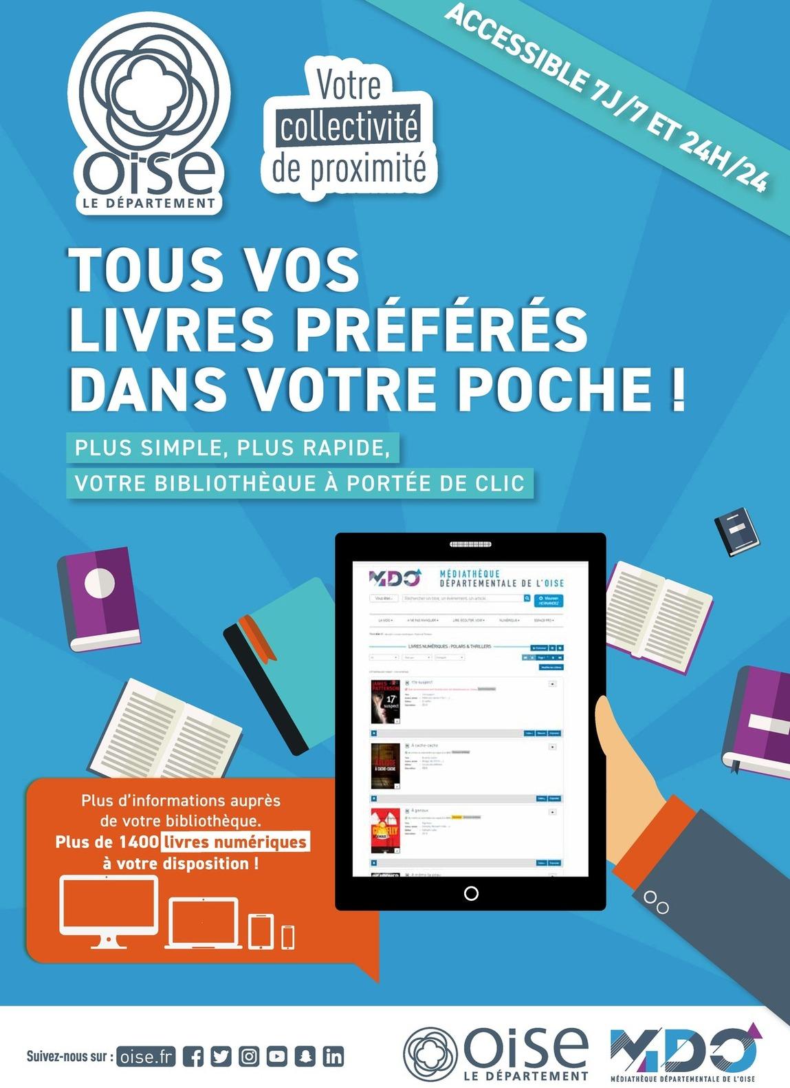 Affiche livres numériques